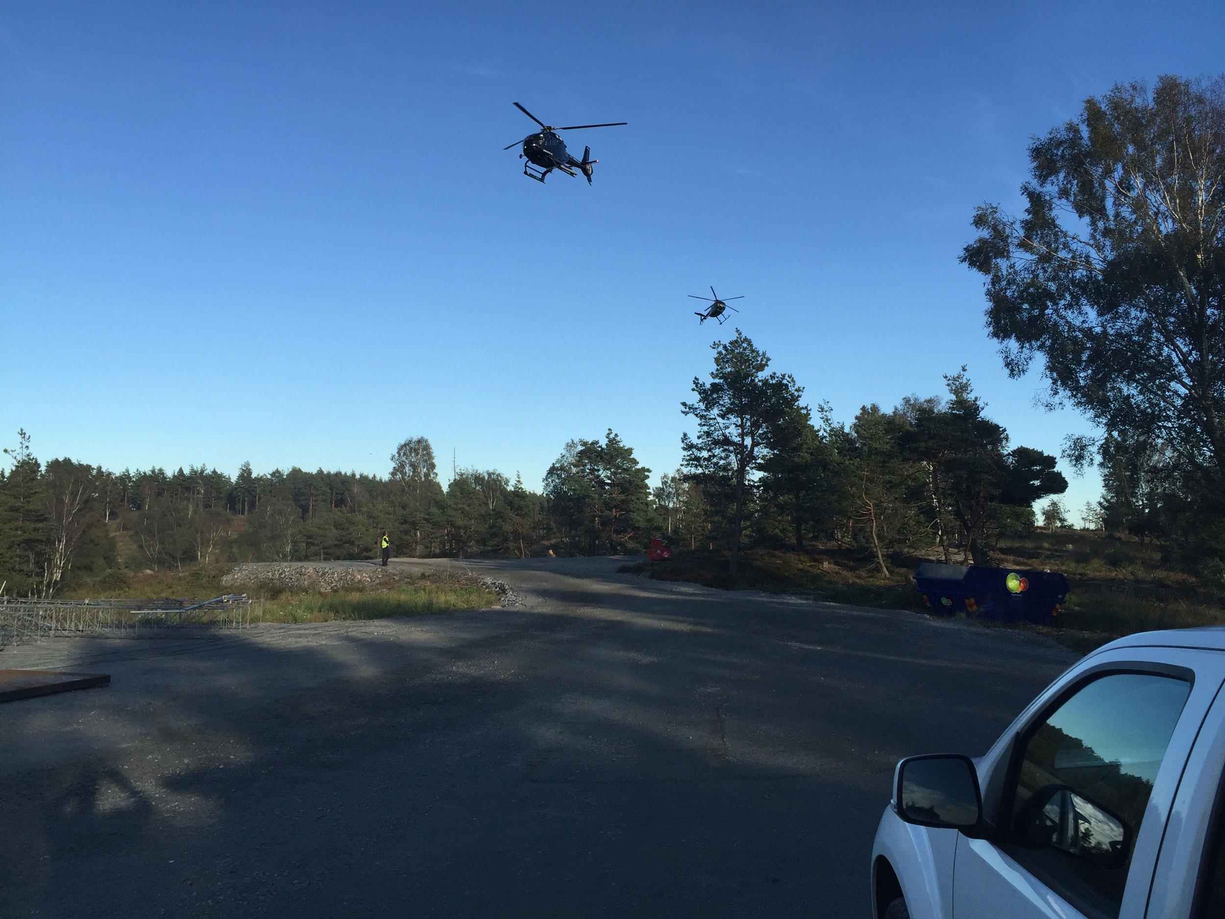 Tekniska resurser helikoptrar