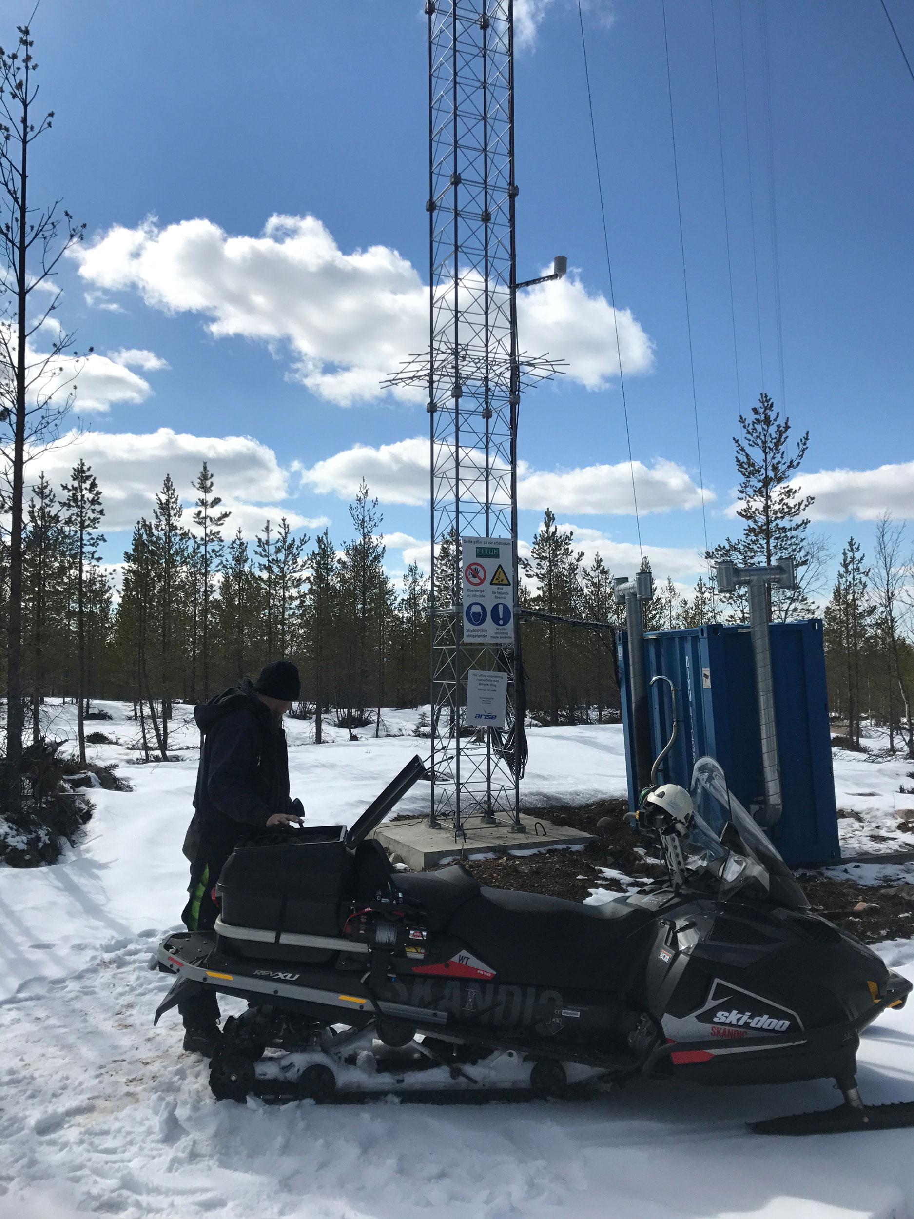 Tekniska resurser snöskoter